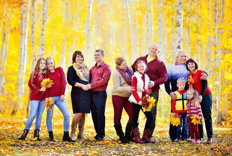 семья большая семья осень Семья!photo preview