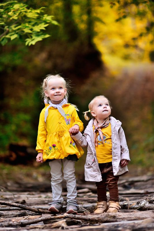 осень дети семья осенняя прогулкаphoto preview