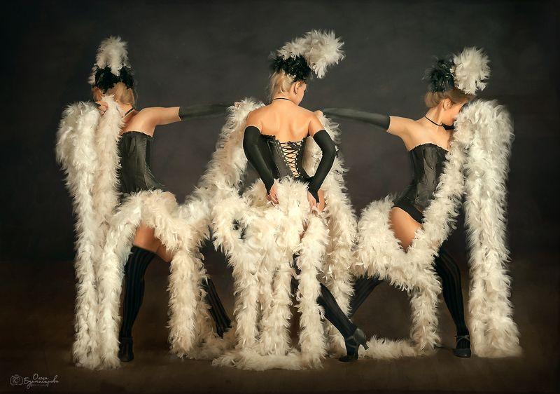 фотоарт, танец, фото по картине, цифровая живопись Кабареphoto preview