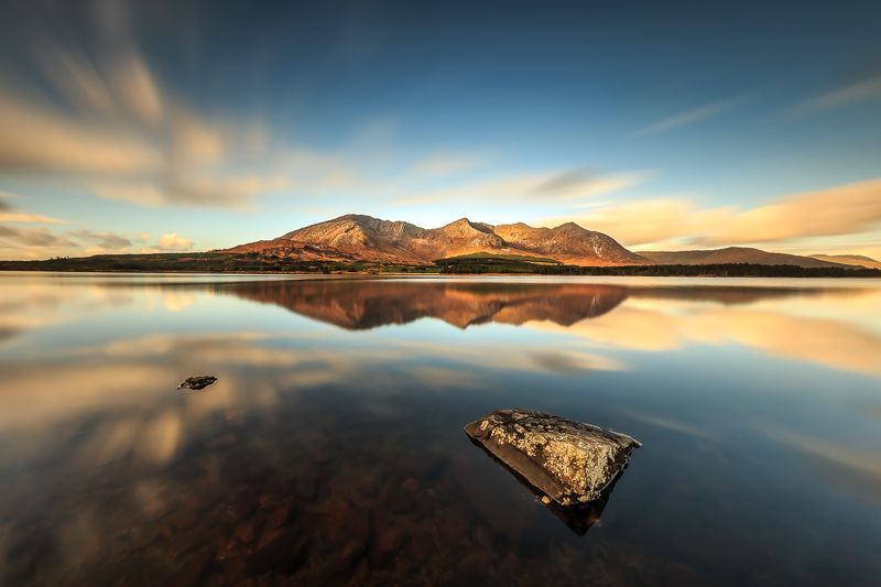 longexposure, Ireland, Galway, sunrise, sunset, clouds, lake, Connemara Connemaraphoto preview