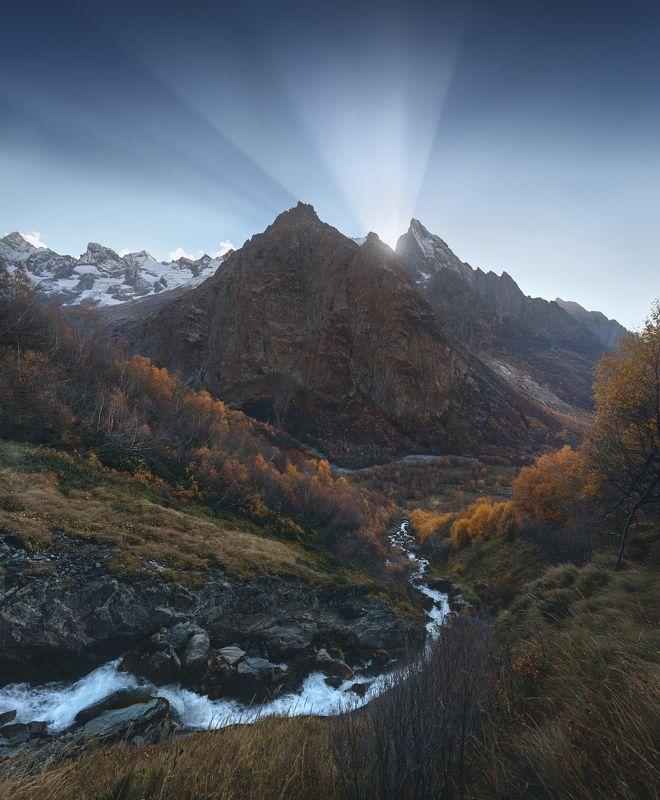 домбай, домбай-ульген, чучхурский водопад, джугутурлючат, осень ***photo preview