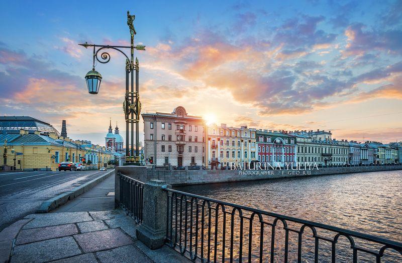 санкт-петербург, фонтанка, пантелеймоновский мост Рассвет над Фонтанкойphoto preview
