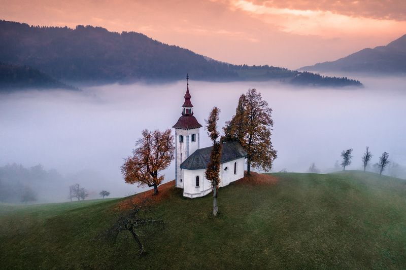slovenia, словения, туман, утро, dji, phantom В объятиях тумана.photo preview