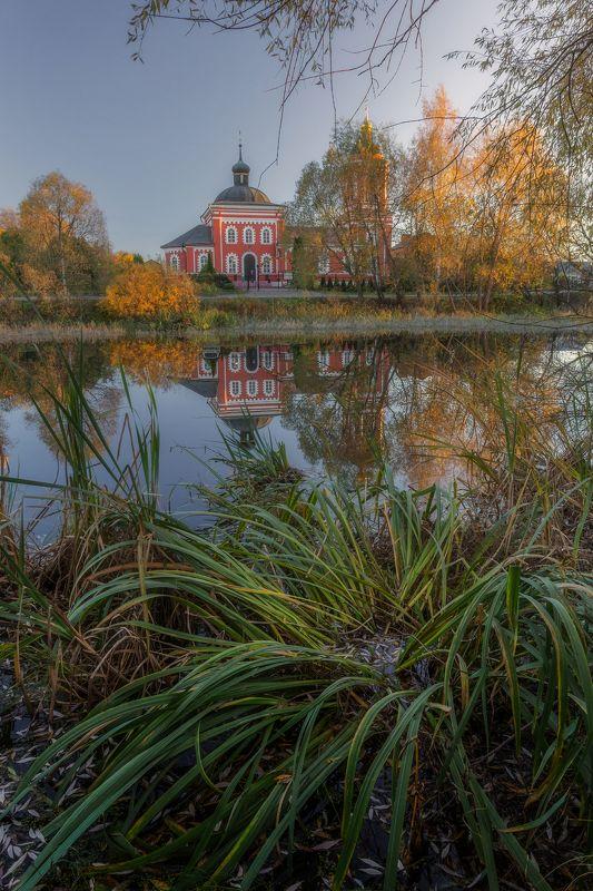 природа, пейзаж, церковь. осень, сертякино, московская область ***photo preview