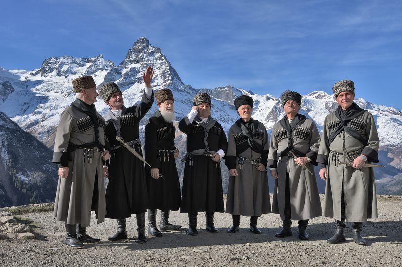 карачаево-черкессия,бесленей,старейшины Где то там...photo preview