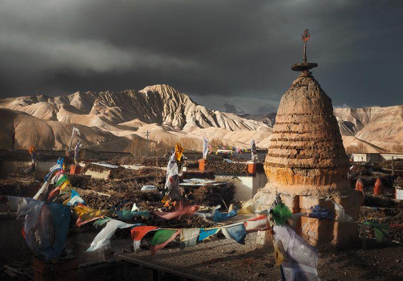ло мантанг, верхний мустанг, непал, nepal, upper mustang, landscape, mountains Крыши королевства Ло.photo preview