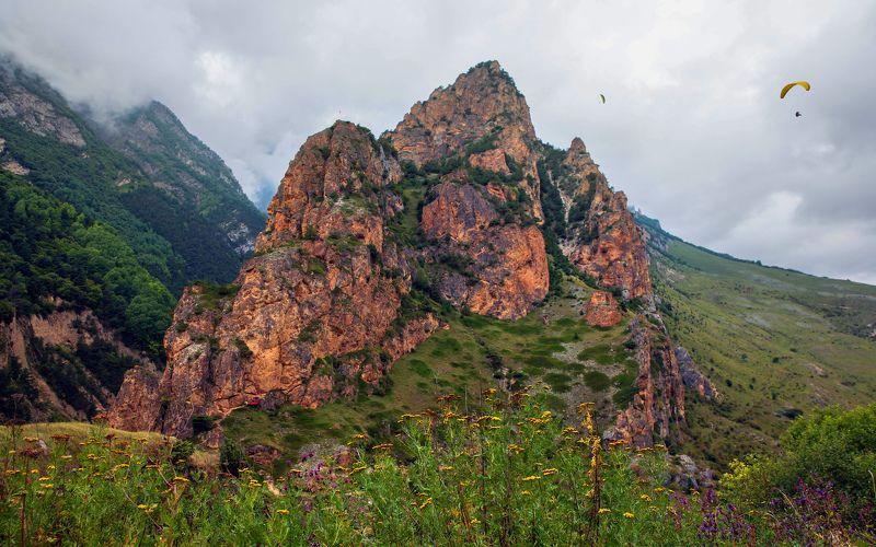 горы,лето,пейзаж,туман Чегемское ущелье..photo preview