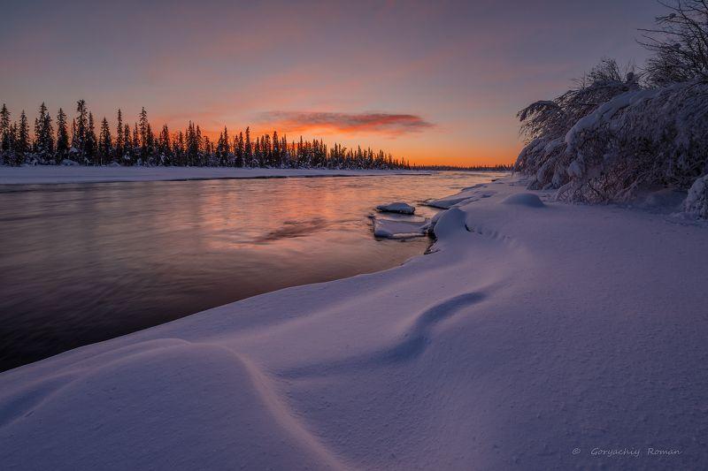 кольский, север,заполярье, умба, река, Зимняя Умба.photo preview
