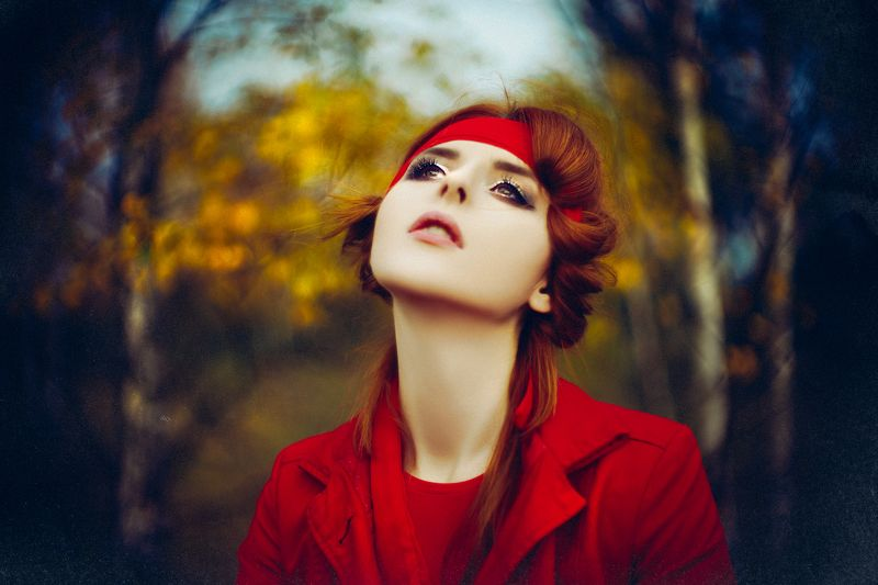 woman, portrait, natural light, art, bokeh, autumn, colors The Autumn Dreamphoto preview