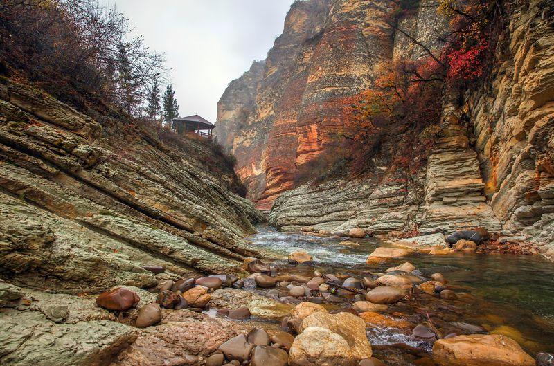 горы,река,осень,природа,дагестан. Горная речка..photo preview