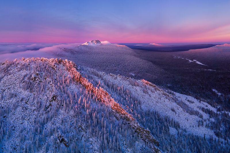 таганай, урал, горы, зима Провожая зимний деньphoto preview