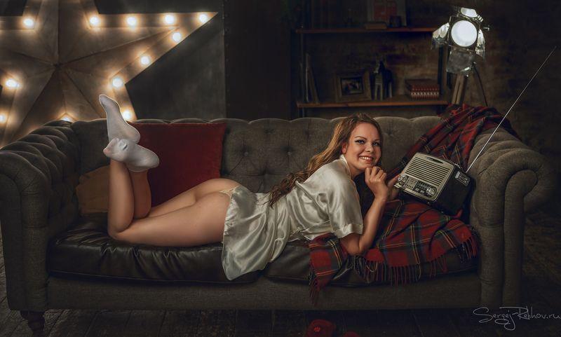 студия, портрет, ночь, девушка, модель Катяphoto preview