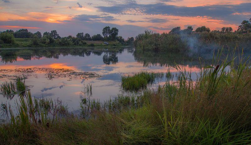 река, пьяна, вечер, лето, нижегородская область Река Пьянаphoto preview