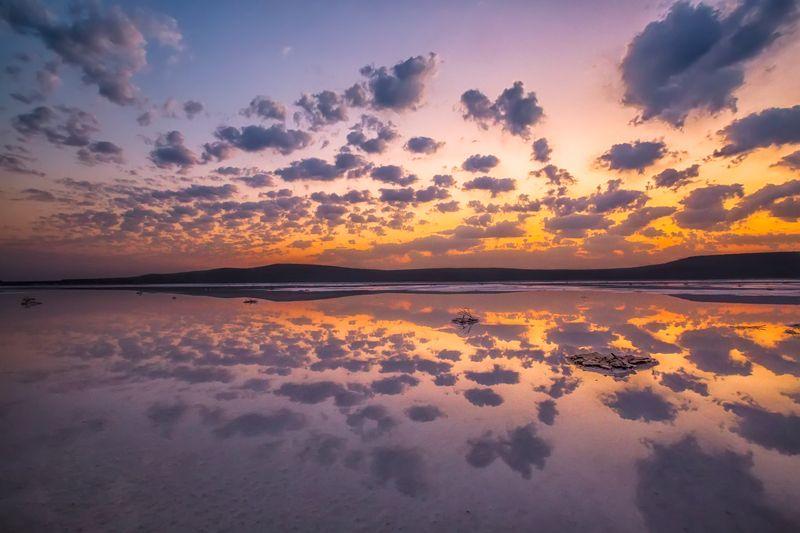 крым,опук,заповедник,рассвет,облака,озеро,отражения,пейзаж,россия,путешествие,фототур Магия рассветаphoto preview