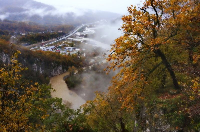 осень река Ноябрь.photo preview