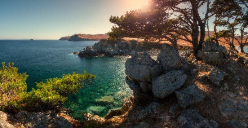 панорама, море, скалы, осень ***photo preview