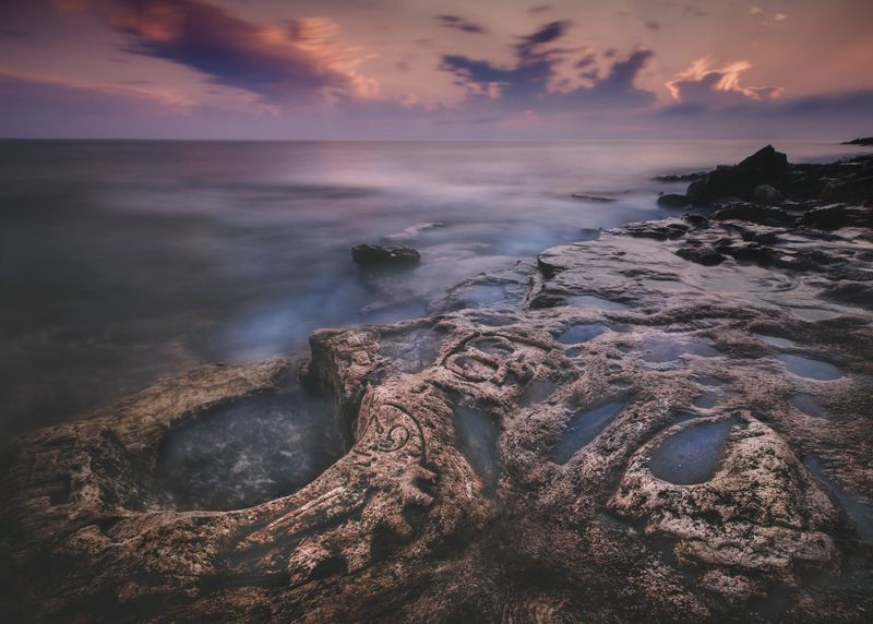 пейзаж,крым,закат,побережье,облака,природа,фототур,россия Закат на странном берегуphoto preview