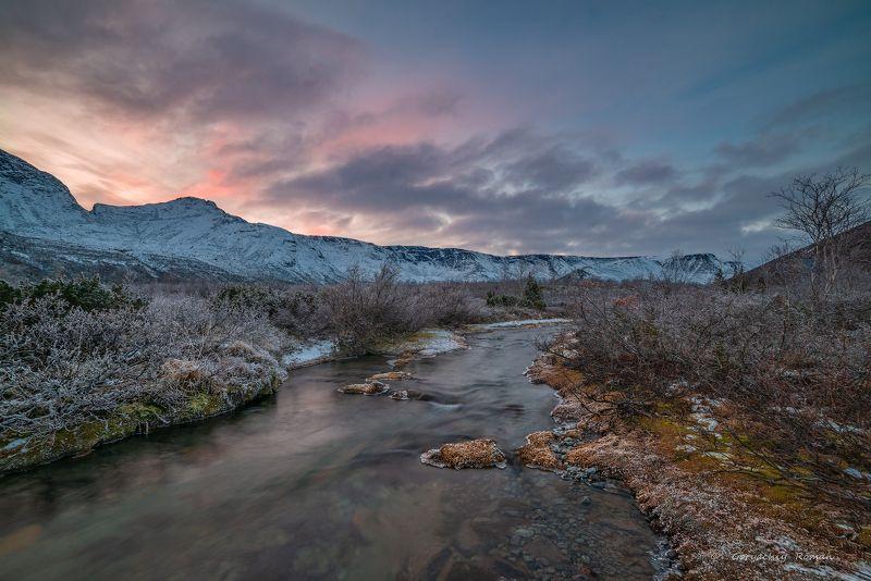 север, кольский, хибины, заполярье, осень, вечер, заморозки, Хибинский вечер.photo preview
