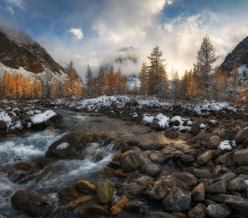 Река Актру и в. Караташ осенью.photo preview