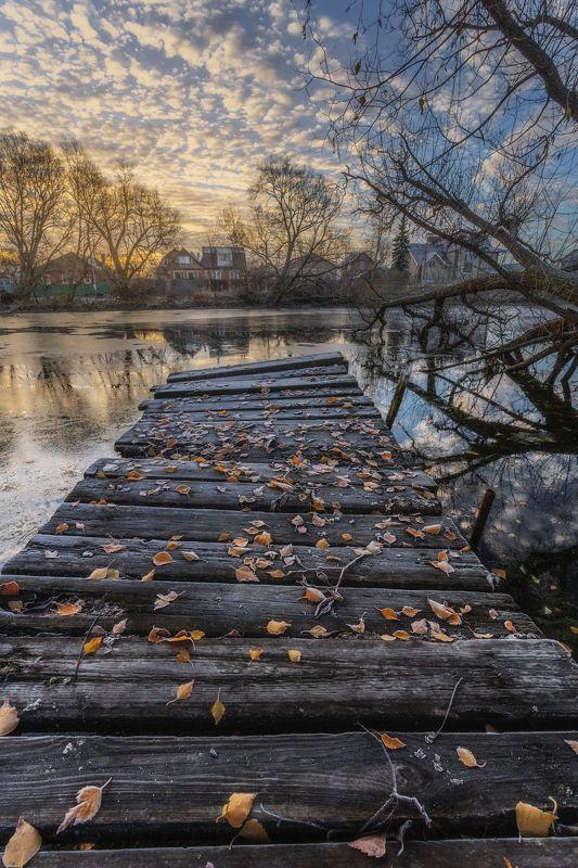 пейзаж, природа, утро, сертякино, московская область Ноябрьское утро.photo preview