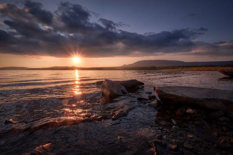 зюраткуль, пейзаж, озеро, закат, горы, урал, небо, солнце Закат над Зюраткулемphoto preview