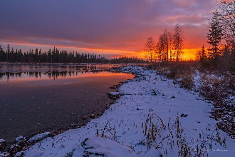 кольский, север,заполярье, умба, река, Умба в закате.photo preview