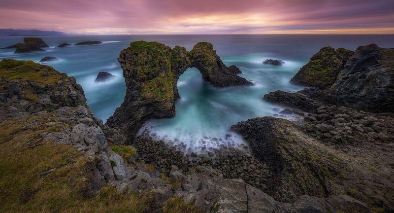 исландия, iceland, океан, море, скалы, gatklettur, Каменная арка Гатклеттур (Gatklettur).photo preview