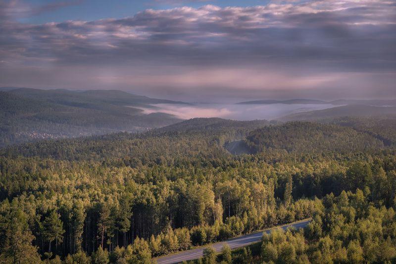 урал, бакал, седой, горы, туман, лес, тайга, дорога, путешествие Седой Уралphoto preview