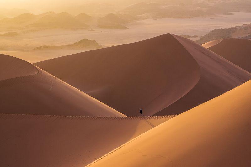 алжир, сахара, тадрарт, мерзуга, дюна, песок, рассвет Tin Merzougaphoto preview