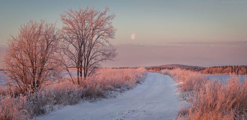 пейзаж,луна,закат,свет,россия,панорама,кольский,север photo preview