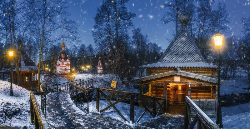 природа, зима, пейзаж, сказка, талеж Святой источникphoto preview
