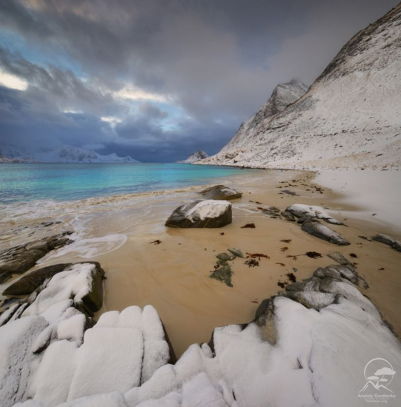 пейзаж, природа, море, норвегия, лофотены Hauklandphoto preview