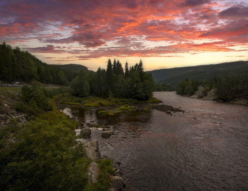 норвегия Дорожная закатнаяphoto preview