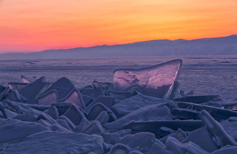 байкал,зима,хрусталь,лед,зима,пейзаж,природа,россия,озеро,снег,закат,фототур Закат на Хрустальном Озереphoto preview