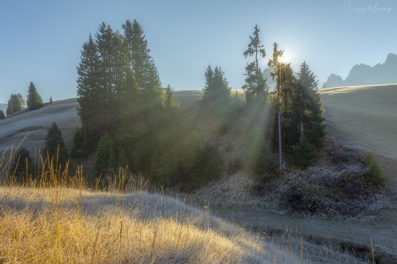 frost & sunlight. dolomites. Frost & sunlight. Dolomites.photo preview