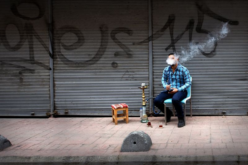 man street smoke nargilephoto preview