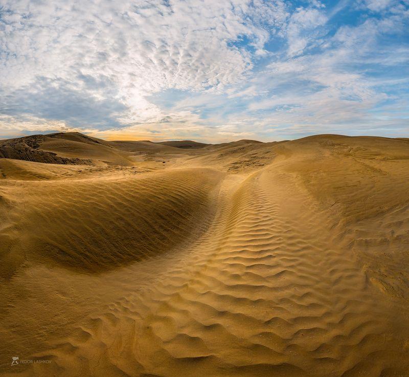 ставропольский край, фотоальбом, ставрополье, закат, небо, облака, пустыня, полупустыня, бархан, песок, узоры, дюна, Пустыня в Ставропольеphoto preview