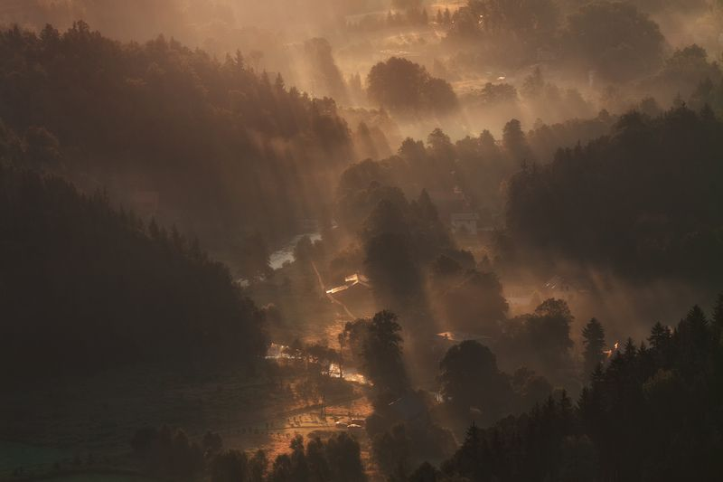landscape,canon,mist,light,autumn Where the Sunshine Heals My Soul....photo preview