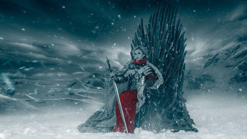 игра престолов, трон, зима, снег, rekhov photo preview