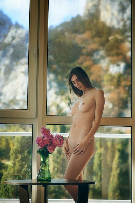 девушка, модель, ню Цветыphoto preview