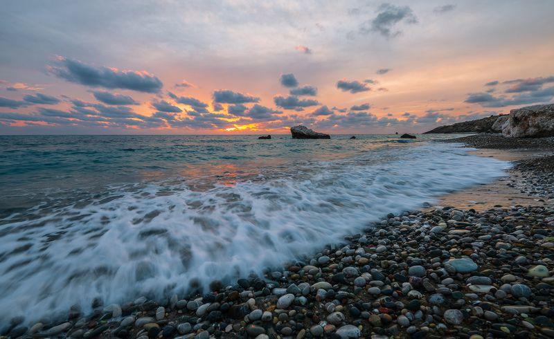 средиземное море кипр ноябрь закат Средиземноморские закатыphoto preview