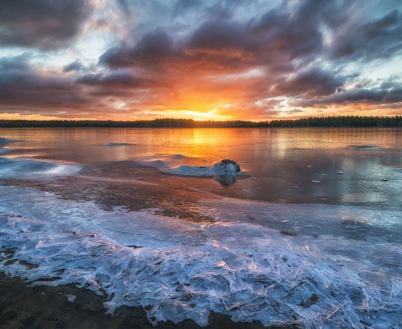 кольский, белое море Осколки реки.photo preview
