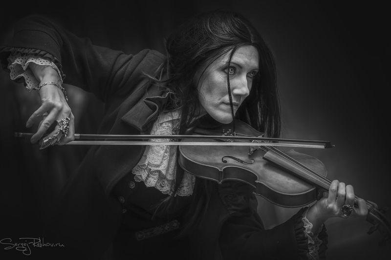 dark, скрипка: фэнтази, rekhov Dark beautyphoto preview