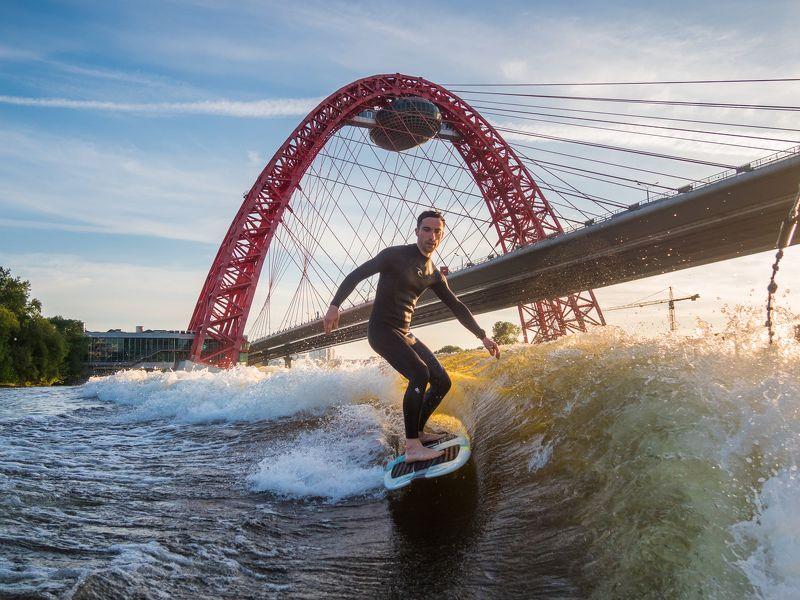вейксёрф, wakesurf Wakesurfing in Moscowphoto preview