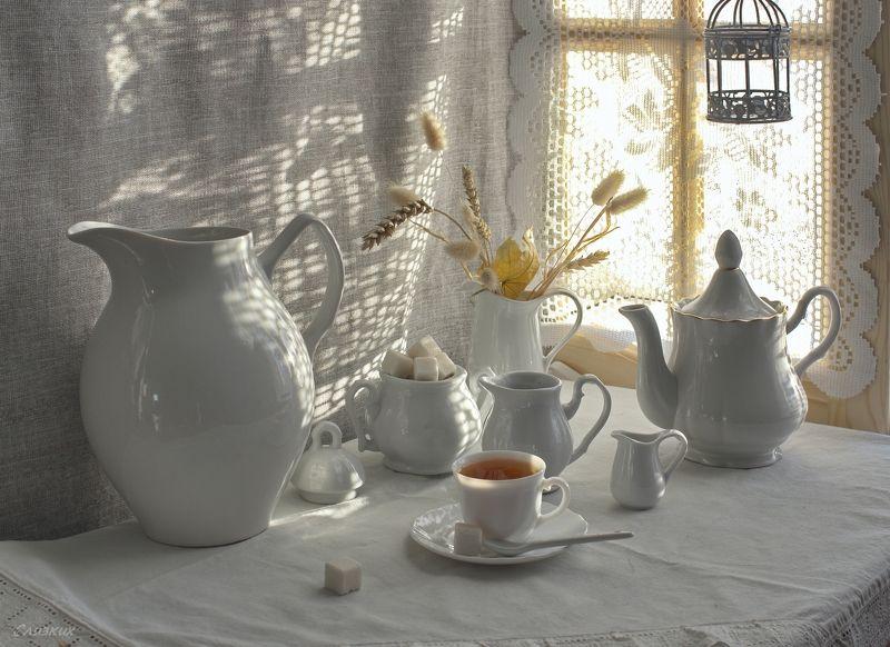 натюрморт,кувшин,свет,чай,утро,окно, Было утро,  было настроение...photo preview