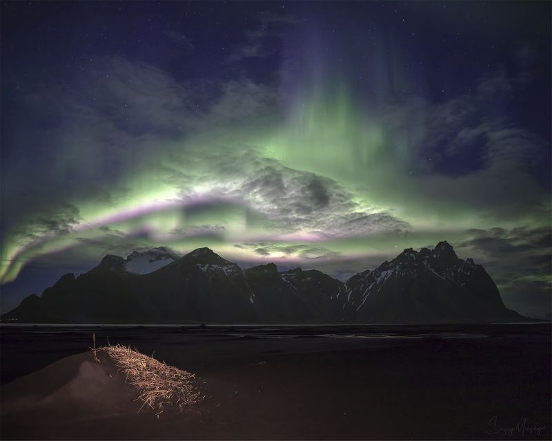 Crazy colours over Vestrahorn. Iceland.photo preview
