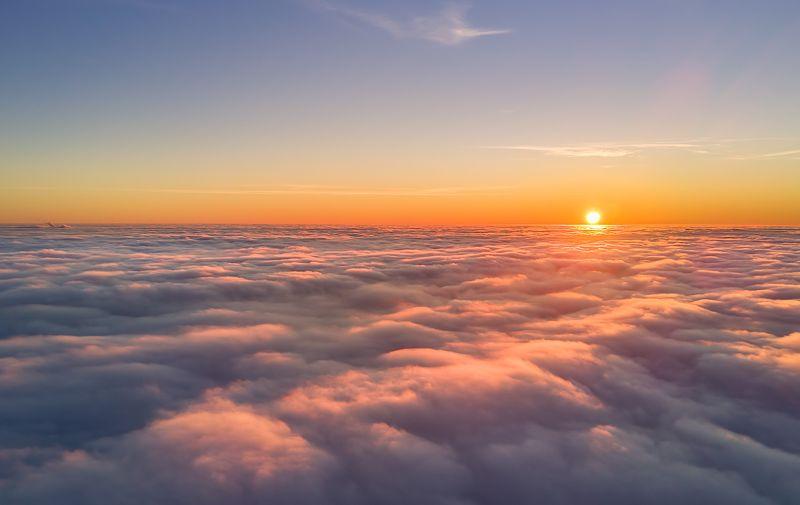 екатеринбург, город, дрон, квадрокоптер А под облаками пасмурное утроphoto preview