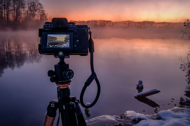 шатура, фотоаппарат, fujufilm, x-h1, пейзаж, озеро, белое, зима, лед, снег, вода Мой бэкстейджphoto preview