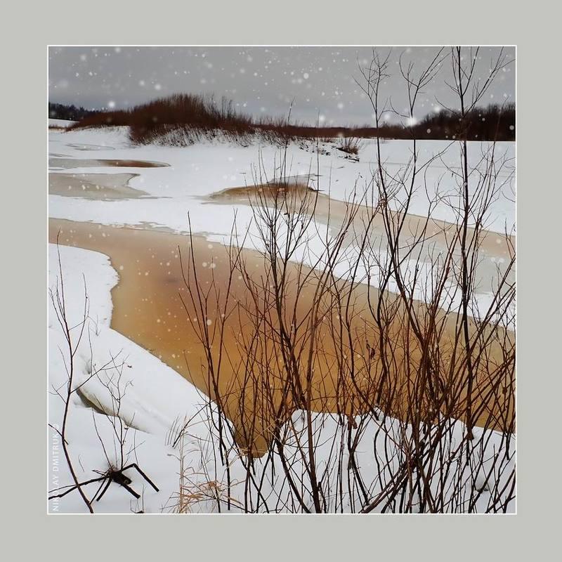 пейзаж река в декабре. Холмогоры. 08.12.2018photo preview