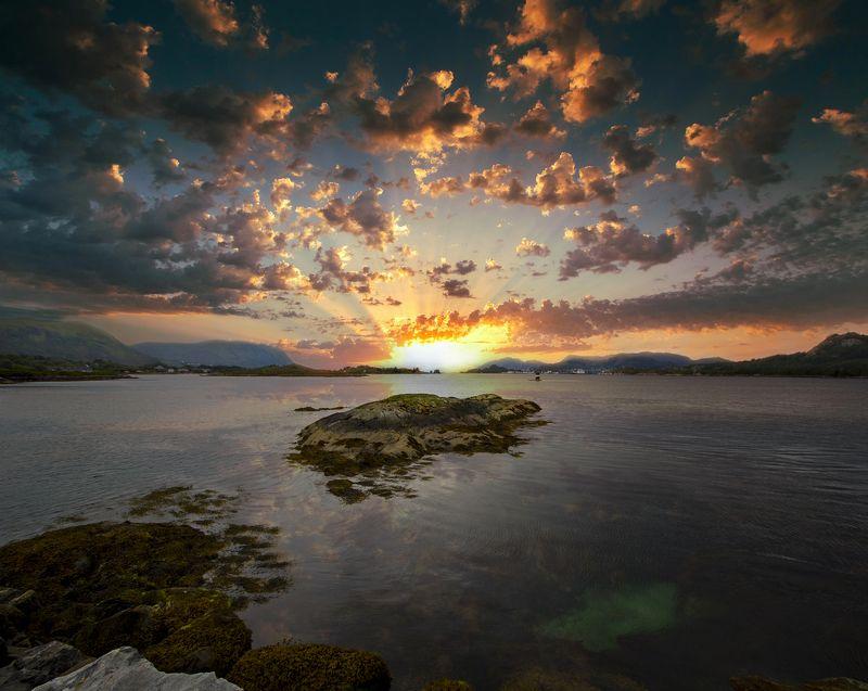 норвегия Закатная картинкаphoto preview